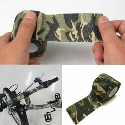 5 Roll Army Camo Wrap Rifle Gun Shooting Camouflage Stealth Webbing Tape 4.5m