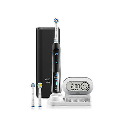 New Oral B Oral B 7000 Black Electric Toothbrush Incl. 3 Brush Head Refills & T