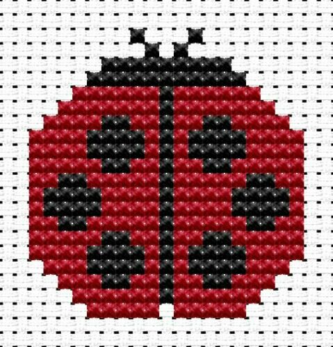 Fat Cat Cross Stitch Kit-Easy Peasy Ladybird