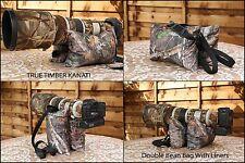 "Large Double FILLED Waterproof Camera Bean Bag ""True Timber KANATI"""