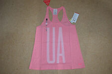 womens ladies under armour top vest tank size SMALL, running, gym, yoga,pink