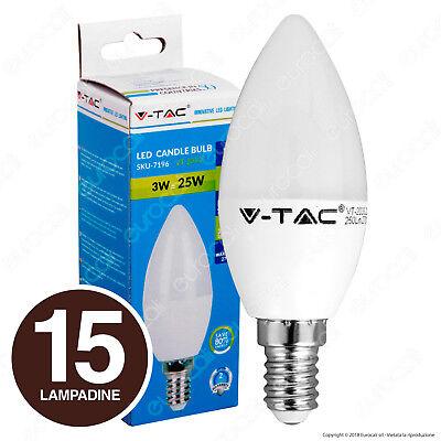 15 LAMPADINE LED V-Tac E14 da 3W a 9W Samsung Lampade Candela Mini Globo bulbo