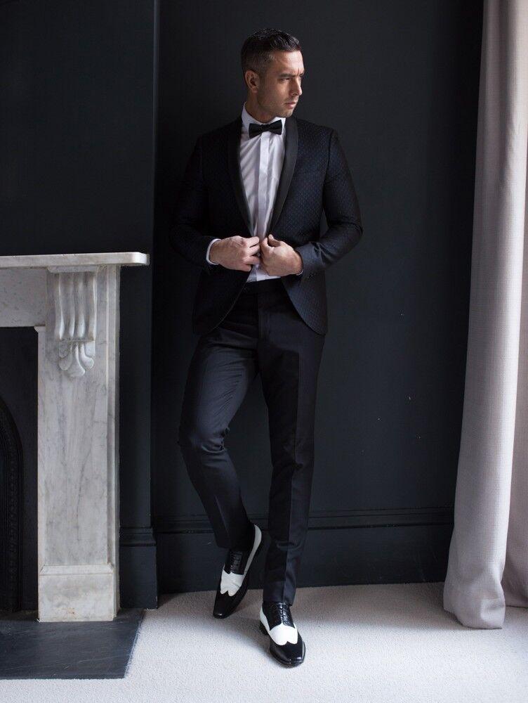 MEN NEW HANDMADE LEATHER BLACK AND Weiß SPECTATOR DRESS Schuhe Schuhe Schuhe 8d4fd8