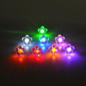 Pop Fashion Charm Glow In The Dark  LED Plum Blossom Stud Earrings for Women