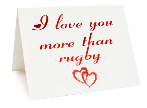Anniversaire saint valentin carte d/'anniversaire-je vous aime plus que Rugby