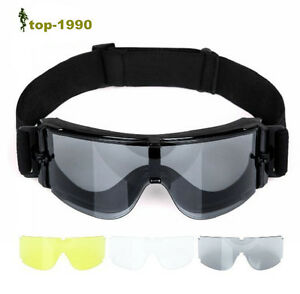 8756d9cb700 Image is loading USMC-Military-Airsoft-X800-Tactical-Goggle-Shooting-Glasses -