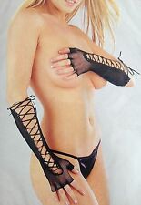 SEXY ELBOW LENGTH FISHNET GLOVES - In Black - One Size- Rapid Same Day Despatch