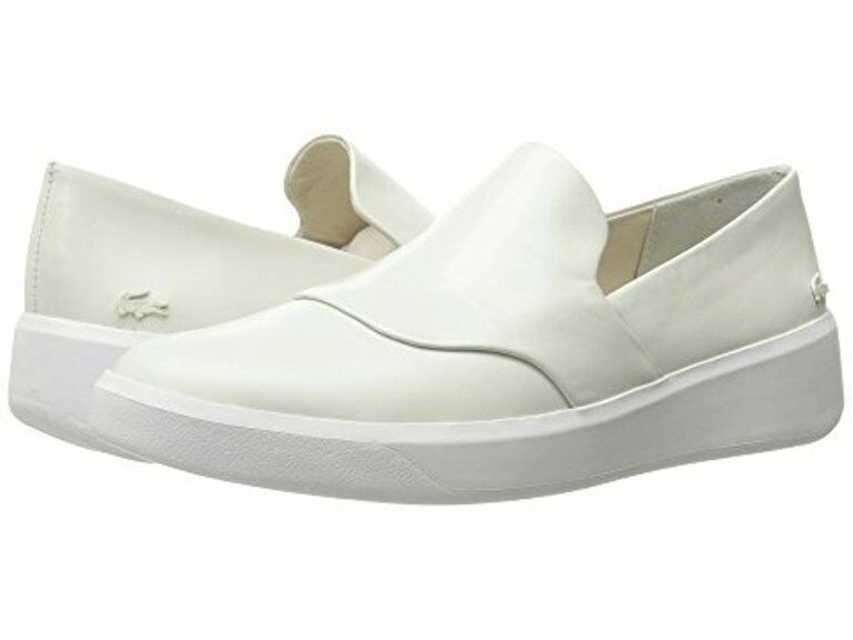New Authentic Lacoste Rochelle Leather Slip 3161 Off- Blanc