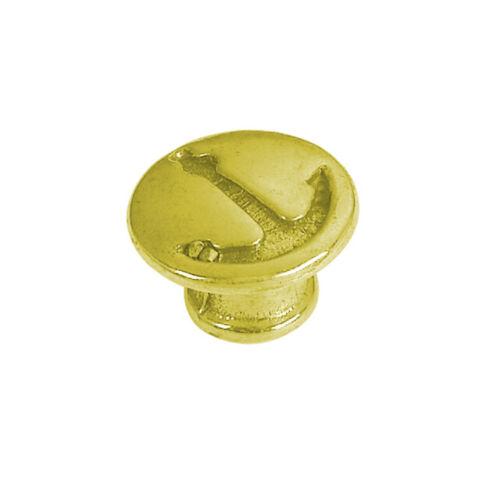 Pomoli per portelli e cassetti in ottone giallo Lucido Ø 29 mmMarca Foresti e