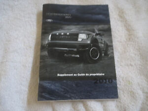 2010 Ford F150 Raptor Svt Owners Manual Supplement Booklet