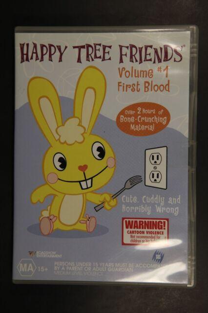 Happy Tree Friends - First Blood : Vol 1 (DVD, 2004)    (Box D202)