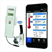 Wireless Temperature/humidity Monitor, Remote Sensor Dry Probe Mobile Alerts on sale