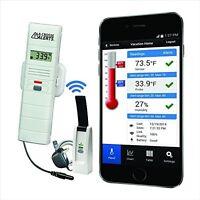 Wireless Temperature/humidity Monitor, Remote Sensor Dry Probe Mobile Alerts on sale