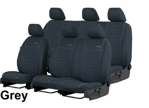 VOLKSWAGEN T5 CREW CAB 6 SEATS 20110-2015 FABRIC TAILORED SEAT COVERS