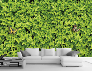 Papel Pintado Mural De Vellón Mariposa De 13 Hojas Verdes 13 De Paisaje Fondo Pantalla 607be8