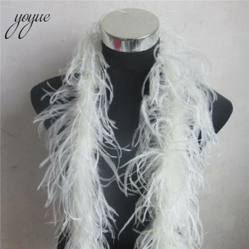 Luxury Ostrich Feather Boa 2 Yards Long High Quality Fluffy Costume Dress