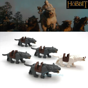 10pcs Lord of the Rings medieval knight horse war horse wolf building blocks toy