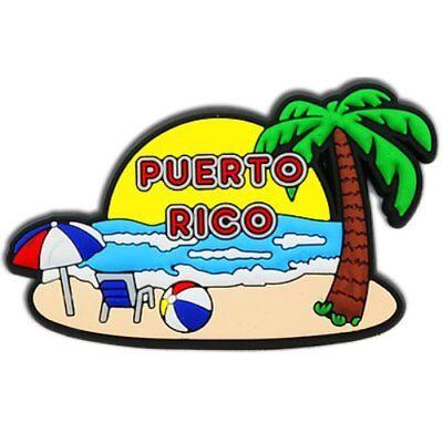 Puerto Rico Black Island Prismatic Magnet Refrigerator Souvenirs Rican Magneto