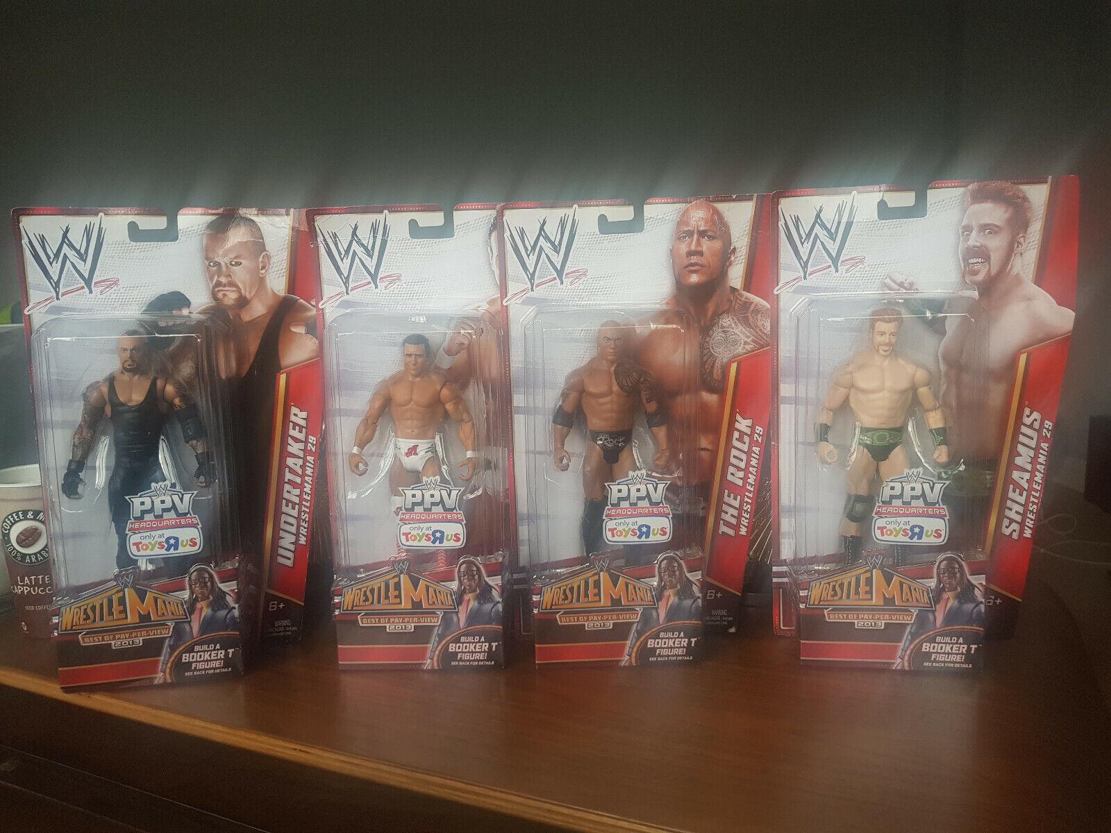 WWE BOOKER T Build a Figure 4 figure set BAF TRU exclusive