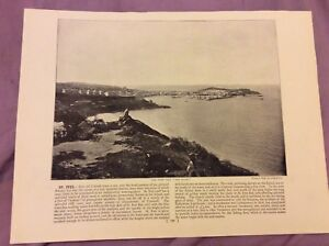 Antique-Book-Print-Killiney-OR-St-Ives-UK-c-1895