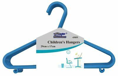Buono Baby Boy Bambini In Plastica Hanger Set Slim Appendiabiti Guardaroba Vivaio Blu-mostra Il Titolo Originale Qualità E Quantità Assicurate