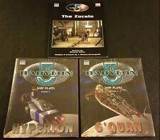 D20 BABYLON 5: SHIP PLANS Volumes 1 2 HYPERION + G'QUAN + THE ZOCALO Lot D&D NEW