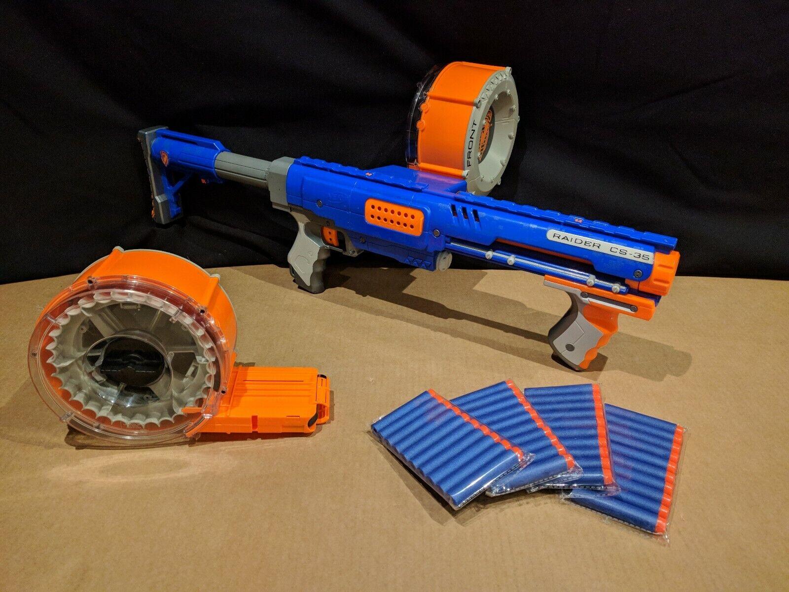 Nerf Raider con 2 tambores de munición y municiones