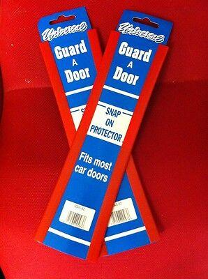 4 XCAR DOOR GUARD PROTECTOR BLACK  2 PACK  4 FT TOTAL LENGTH