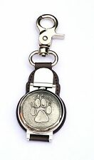 Wolf Paw Design Clip on Fob Pocket Watch Gift