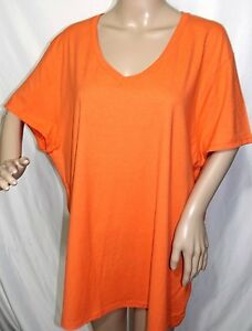 0e9abef64ca JMS Just My Size Women Plus Size 3x 22 24 Basic Classic Orange Tee T ...