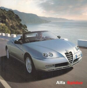 Alfa Romeo Spider 2003-04 UK Market Brochure 2.0 TS JTS 3.2 V6 Turismo Lusso