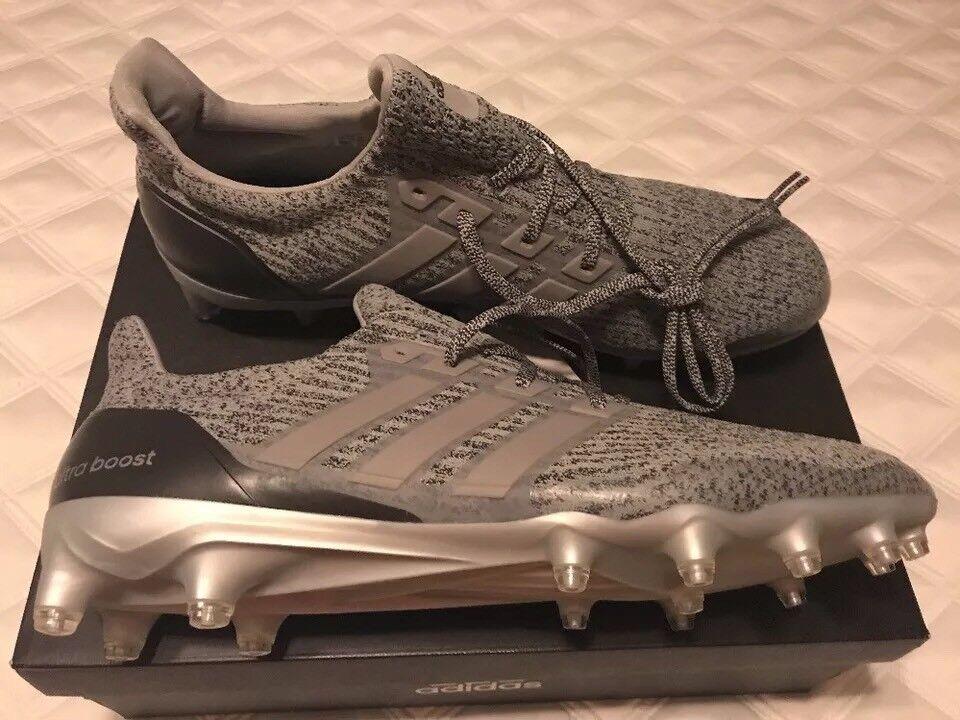 Adidas Ultra Boost Football Cleats UltraBOOST Triple Black Football Boost Yeezy RARE NEW 13.5 55cc13