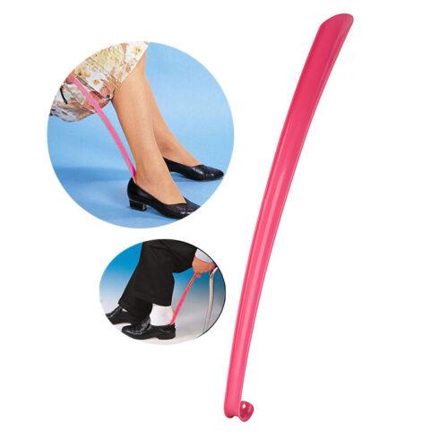 Long Shoe Horn Easy Reach Plastic Flexible Handle Shoehorn Remover Aid Slip