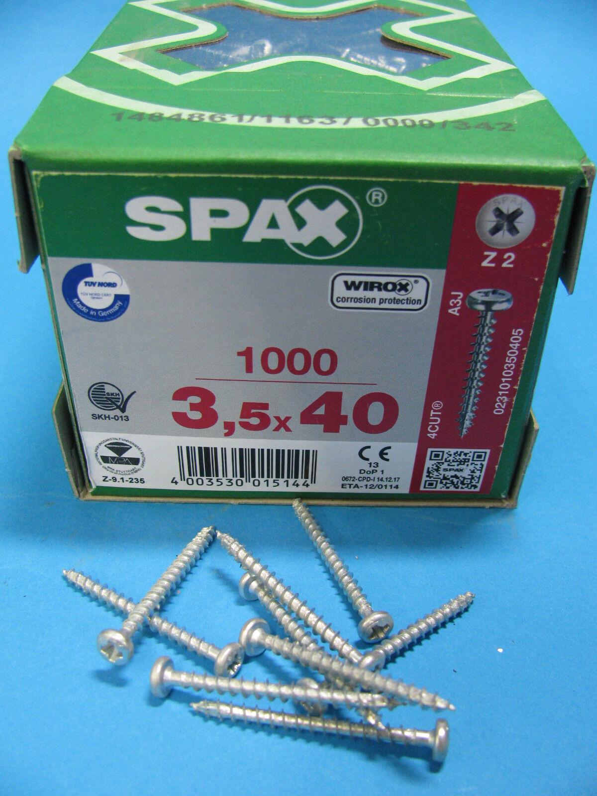 Original SPAX ® Rundkopf PanHead Spax verz Holzschrauben alle Größen m Kreuzkopf | Luxus