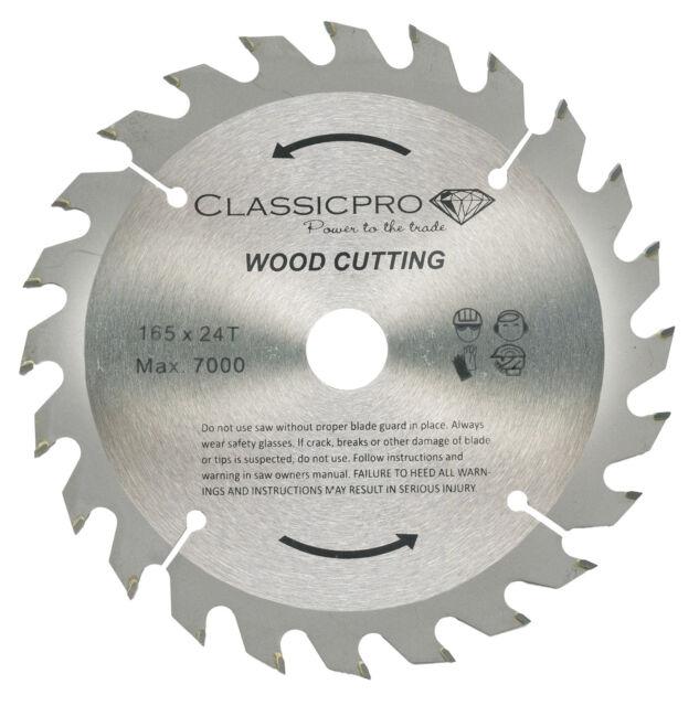 Classicpro 165mm x 24t tct circular saw blade dewalt makita ryobi classicpro tct 165mm x 20mm16mm bore 24t cordless circular cutting blade greentooth Images