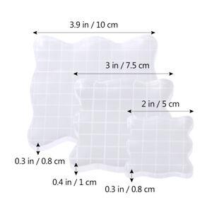 3-St-DIY-Acryl-Stempel-Transparent-Stempelblock-Grid-Stamping-Blocks-5-7-5-10cm