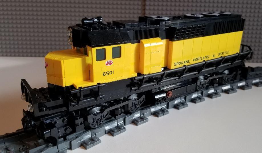 Lego Tren Spokane Portland & Seattle GP40 --- por favor, lea la descripción del artículo ---