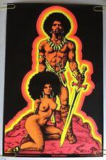 Man & Woman I Houston Blacklight Vintage Poster Psychedelic 1970 Original 70s