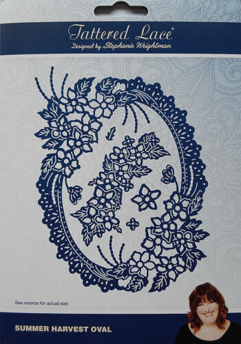 Tattered Lace Dies SUMMER HARVEST OVAL Flowers Metal Cutting Dies TLD0595