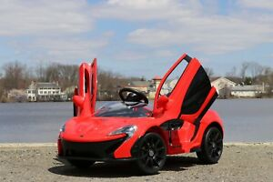 mclaren p1 red 12v-dual motor electric power ride on car with remote