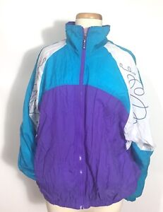 Image is loading Vintage-NIKE-Jacket-Windbreaker-Purple-Blue-White-Nylon- 465d9b7e6