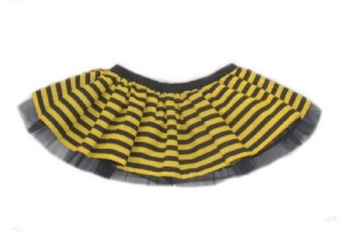 Ladies Bumble Bee Tutu Skirt Neon Yellow Black Striped Lengths 80/'s Fancy Dress