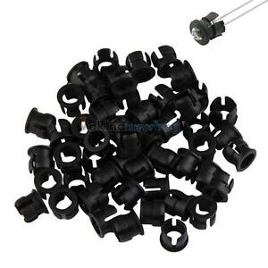 Practical-50pcs-5mm-ABS-Plastic-Black-LED-Clip-Holder-Display-Panel-Bezel-Mounts
