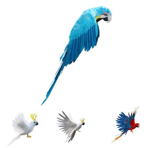 Realistic Flying Bird Artificial Parrot Home Office Decor Desk Decor