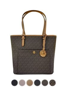 Michael-Kors-Jet-Set-Medium-Large-Top-Zip-Snap-Pocket-Tote