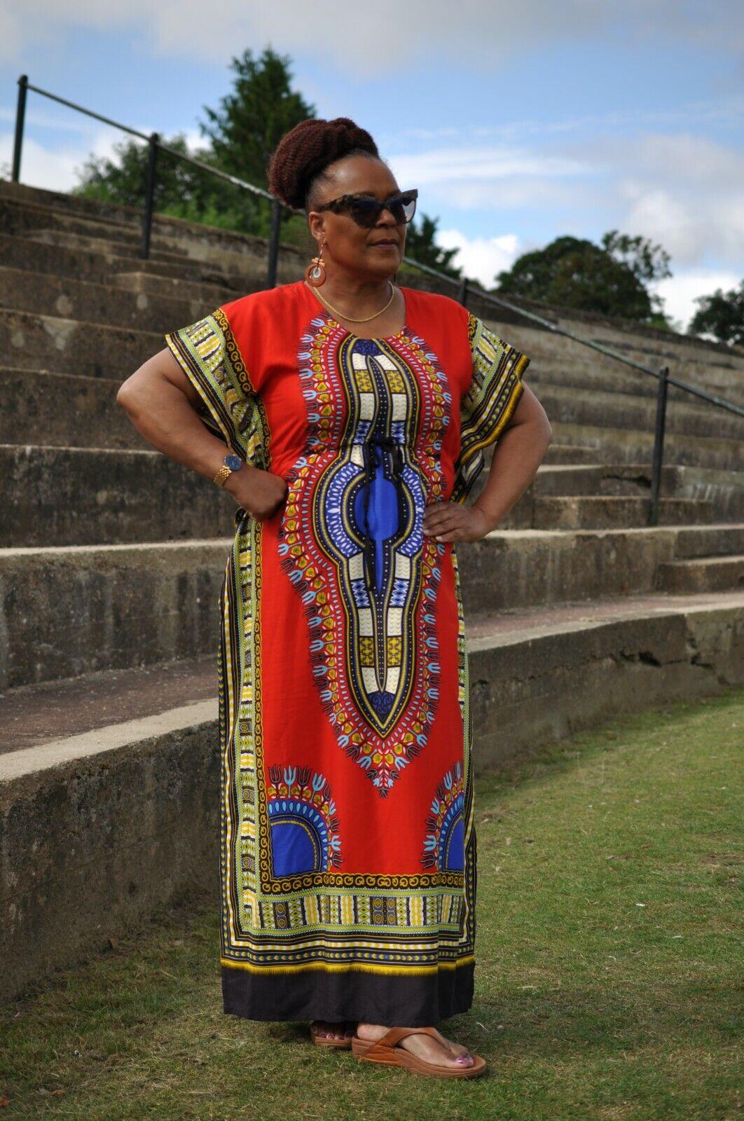 One Size Kaftan Dashiki Dress/African House Dress/Dashiki Print/With Adjustable