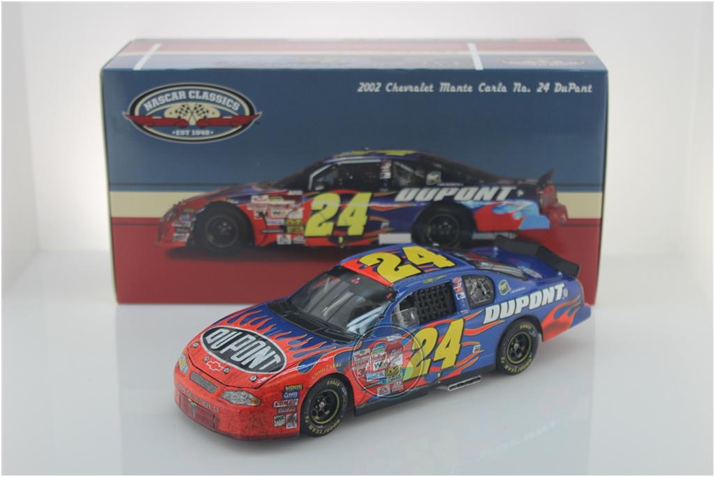 NEW NASCAR JEFF GORDON   24 DUPONT 2002 BRISTOL RACE WIN 1 24 CAR IN STOCK NOW