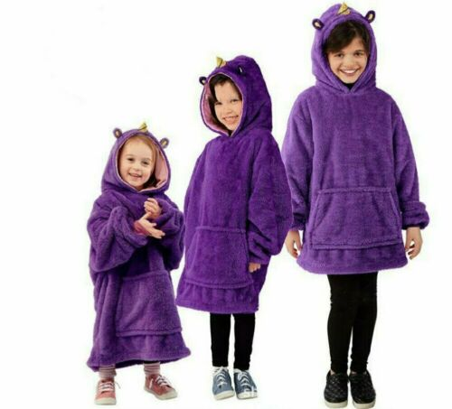 Blanket Sweatshirt Pets Hoodies Plush Blanket Pillow Warm Coat Kid Snuggle Blankets