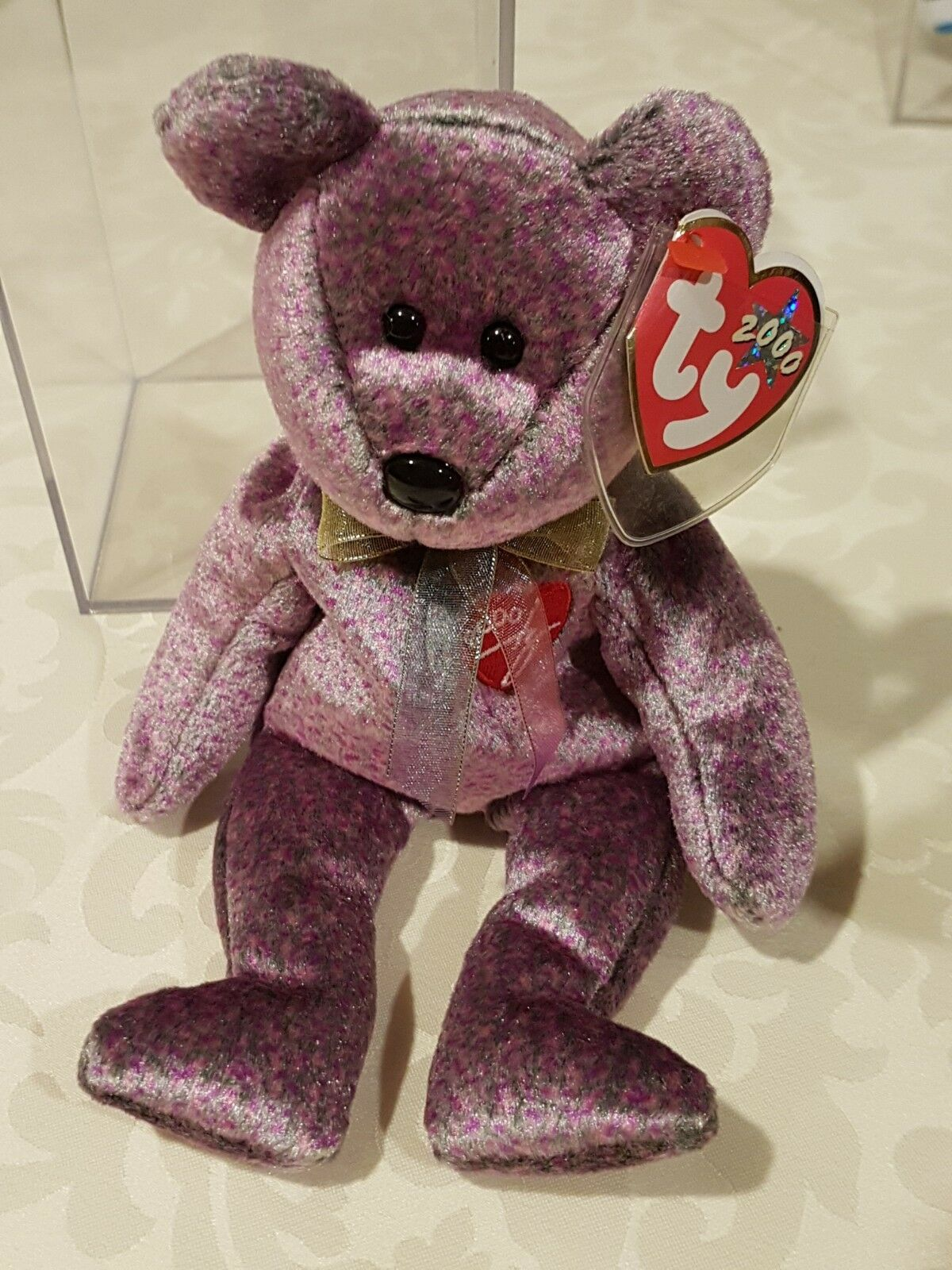 TY Beanie Baby 2000 SIGNATURE Bear - Retired with PE Pellets