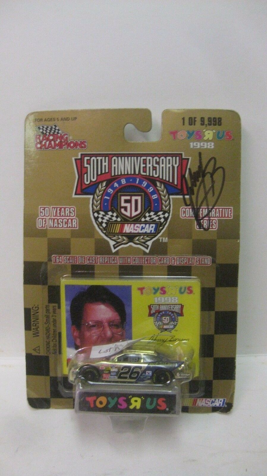 Nascar 50th Anniversary Johnny Benson Autographed Ford 1 64 Diecast NEW   dc1377